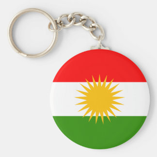 Kurdistan Flag Basic Round Button Key Ring