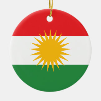Kurdistan Flag Christmas Ornament