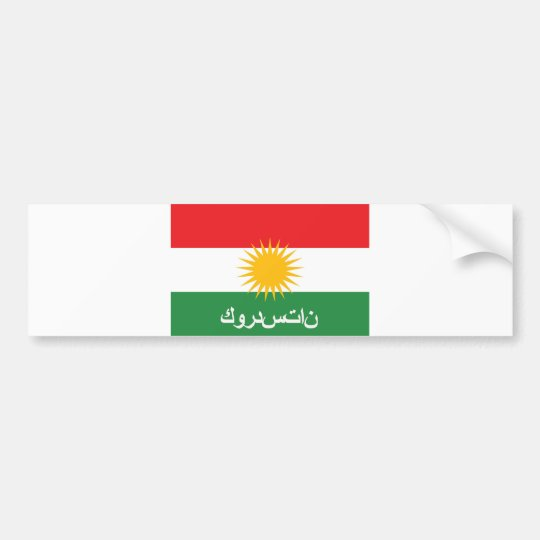 kurdistan flag country arab text name bumper sticker
