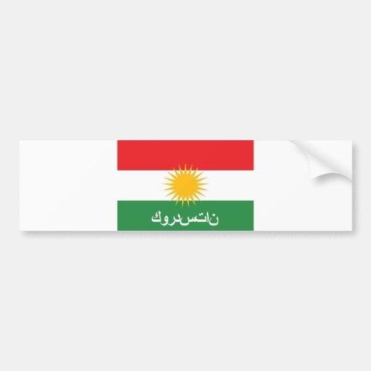kurdistan flag country arab text name bumper sticker
