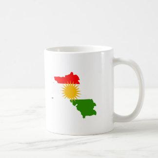 Kurdistan flag map basic white mug