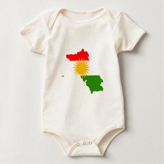 Kurdistan flag map bodysuit
