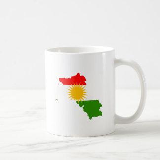 Kurdistan Flag Map full size Basic White Mug