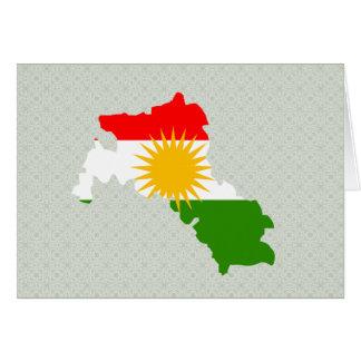 Kurdistan Flag Map full size Greeting Card