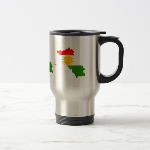 Kurdistan Flag Map full size Mug