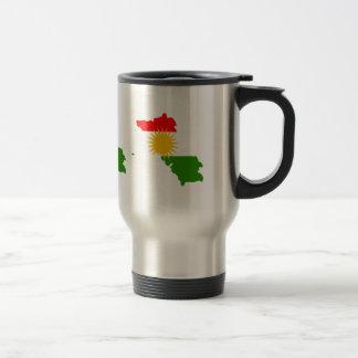 Kurdistan Flag Map full size Stainless Steel Travel Mug
