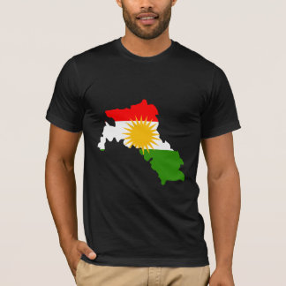 Kurdistan Flag Map full size T-Shirt