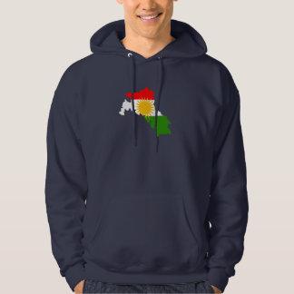 Kurdistan flag map sweatshirt