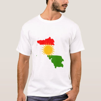 Kurdistan flag map T-Shirt
