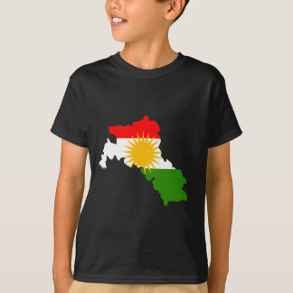Kurdistan flag map tshirt