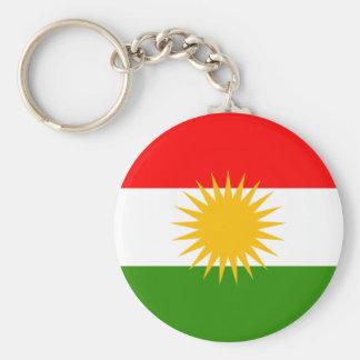 Kurdistan High quality Flag Basic Round Button Key Ring