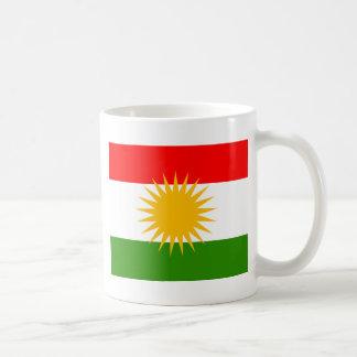 Kurdistan High quality Flag Basic White Mug