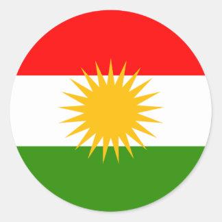 Kurdistan High quality Flag Round Sticker