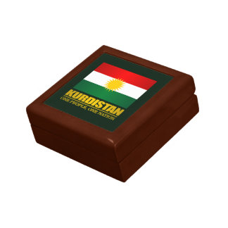 Kurdistan (One People, One Nation) Small Square Gift Box