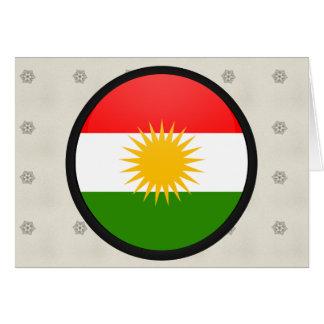 Kurdistan quality Flag Circle Greeting Card