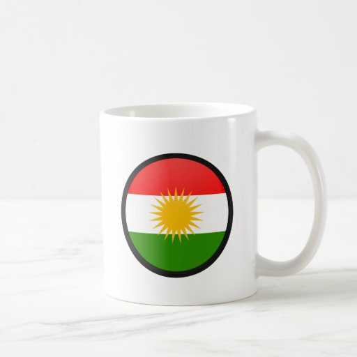 Kurdistan quality Flag Circle Coffee Mug