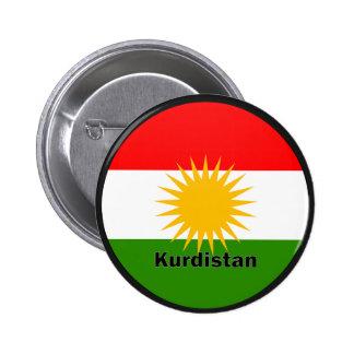 Kurdistan Roundel quality Flag 6 Cm Round Badge