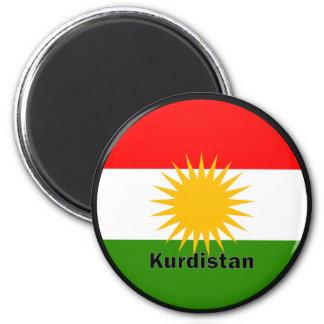 Kurdistan Roundel quality Flag 6 Cm Round Magnet