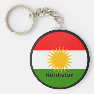 Kurdistan Roundel quality Flag Basic Round Button Key Ring