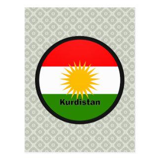 Kurdistan Roundel quality Flag Postcard