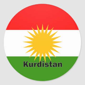 Kurdistan Roundel quality Flag Round Sticker