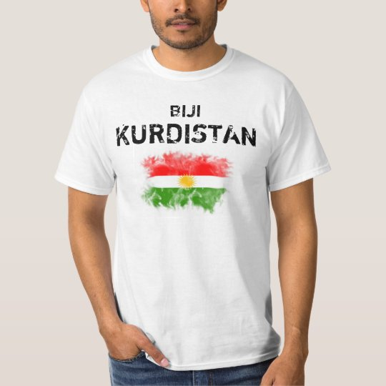 "Kurdistan T-shirt with ""Biji Kurdistan """