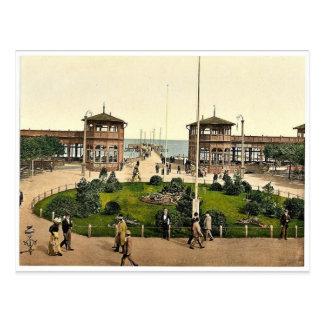 Kurgarten & Landungsbrucke, Zoppot, East Prussia, Postcard