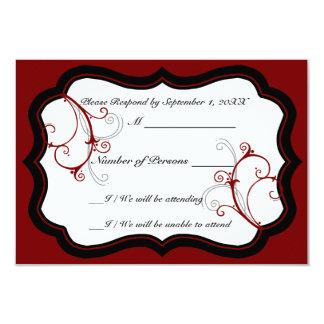 Kurli-Q Ivory B (Red) RSVP Card Custom Announcements