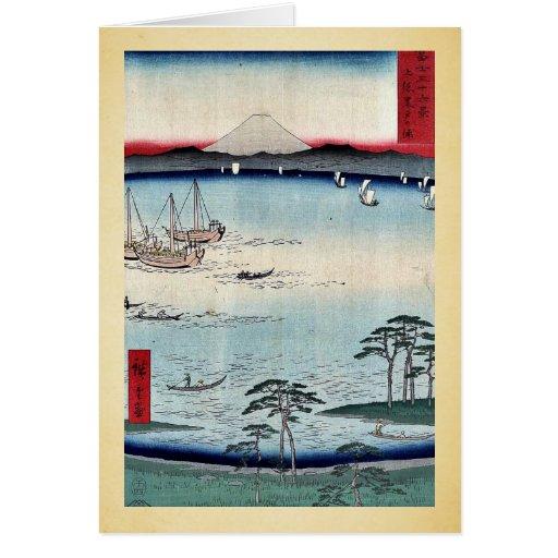 Kuroto no Ura, by Ando, Hiroshige Greeting Card