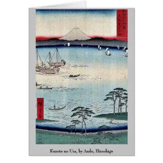 Kuroto no Ura, by Ando, Hiroshige Card