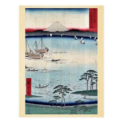 Kuroto no Ura, by Ando, Hiroshige Postcard