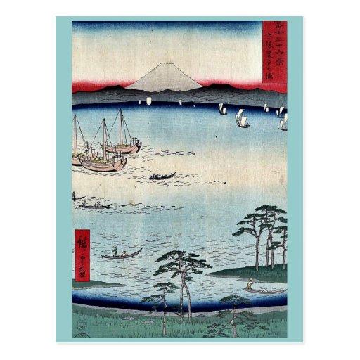 Kuroto no Ura, by Ando, Hiroshige Post Card