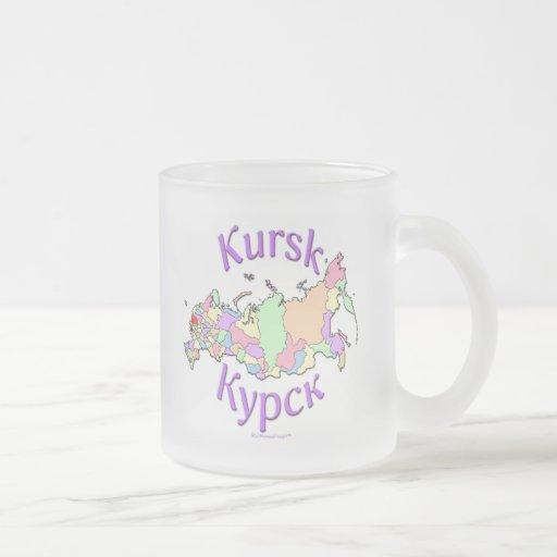 Kursk Russia Map Coffee Mugs