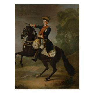 Kurt Christoph Graf von Schwerin on horseback Postcard