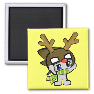 Kuru Kuru Red Nose Reindeer Fridge Magnet