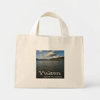 Kusawa Vista; Yukon Territory Souvenir Mini Tote Bag