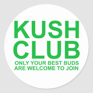 KushClub only your best buds are invited Round Sticker
