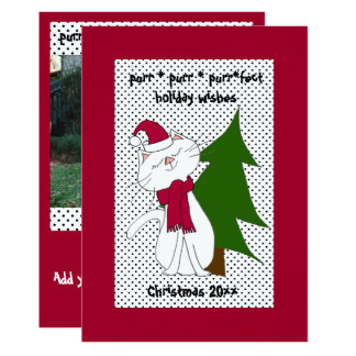 Kute Kitty Purr*fect Holiday Greeting Card