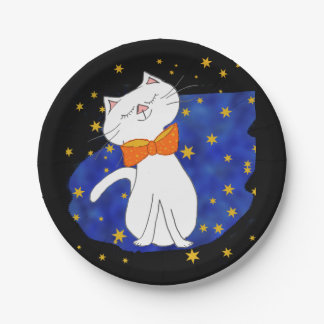 Kute Kitty -- Starry Night Party Paper Plate
