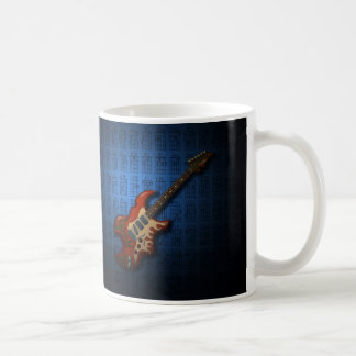 KuuMa Guitar 01 (B) Basic White Mug