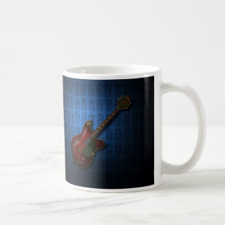 KuuMa Guitar 08 (B) Basic White Mug