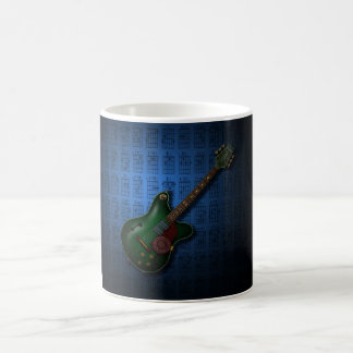 KuuMa Guitar 09 (B) Basic White Mug