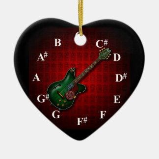 KuuMa Guitar Clock Christmas Ornament