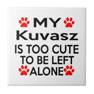 Kuvasz  Designs Small Square Tile