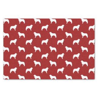 Kuvasz Silhouettes Pattern Red Tissue Paper