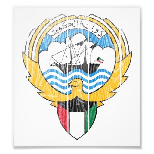 Kuwait Coat Of Arms Photo Art