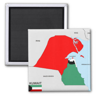 kuwait country map flag magnet