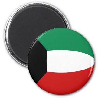 Kuwait Fisheye Flag Magnet
