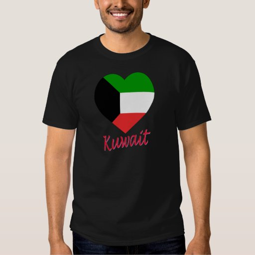 Kuwait Flag Heart Shirts