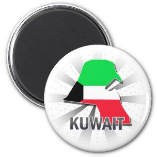 Kuwait Flag Map 2.0 Magnet